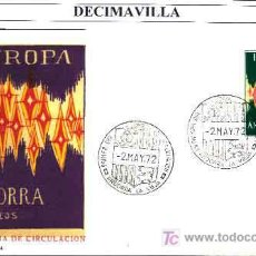 Sellos: ANDORRA ESPAÑOLA, EUROPA - CEPT 1972, SOBRE DE PRIMER DIA. Lote 20431503
