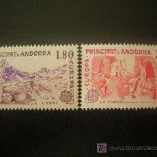 Sellos: ANDORRA FRANCESA 1983 IVERT 313/4 *** EUROPA - GRANDES OBRAS DE LA HUMANIDAD. Lote 20232739