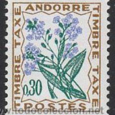 Sellos: ANDORRA FRANCESA EDIFIL TASA Nº 50, FLORES SILVESTRES: NOMEOLVIDES, NUEVO. Lote 20324073