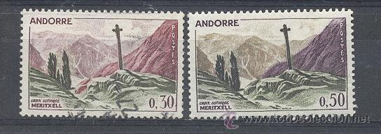 ANDORRA FRANCESA, 1961-71, YVERT TELLIER 161(NUEVO) , 159 (USADO) (Sellos - Extranjero - Europa - Andorra)