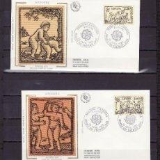 Sellos: ANDORRA FR. 378/9 O.P.P. PRIMER DIA, TEMA EUROPA, JUEGOS DE NIÑOS, . Lote 22626773