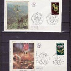 Sellos: ANDORRA FR. 286/7 O.P.P. PRIMER DIA, FLORES DEL VALLE DE ANDORRA,. Lote 22627443
