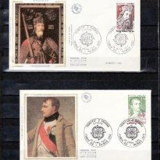 Sellos: ANDORRA FR. 284/5 O.P.P. PRIMER DIA, TEMA EUROPA, CARLOSMAGNO, NAPOLEON I . Lote 25374802
