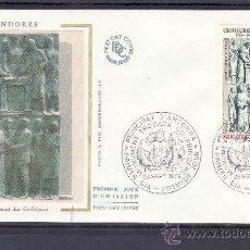 Sellos: ANDORRA FR. 280 O.P.P. PRIMER DIA, VII CENTENARIO DEL CO-PRINCIPADO DE ANDORRA, . Lote 22627679