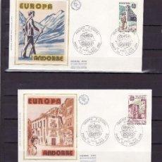 Sellos: ANDORRA FR. 276/7 O.P.P. PRIMER DIA, TEMA EUROPA, HISTORIA DEL CORREO, CARTERO, . Lote 22627693