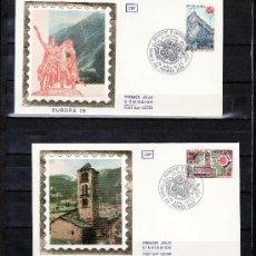 Sellos: ANDORRA FR. 269/70 CEF PRIMER DIA, TEMA EUROPA, MONUMENTOS, IGLESIA DE PAL, CASA CARLOSMAGNO. Lote 22627718