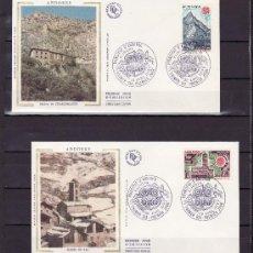 Sellos: ANDORRA FR. 269/70 O.P.P. PRIMER DIA, TEMA EUROPA, MONUMENTOS, IGLESIA DE PAL, CASA CARLOSMAGNO. Lote 22627720