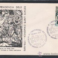 Sellos: ANDORRA FR. 255 A.E.S. PRIMER DIA, BICENTENARIO DE LA INDEPENDENCIA DE LOS EE.UU. . Lote 22627900