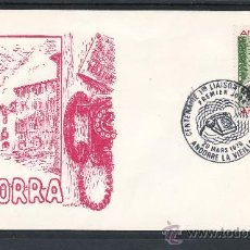 Sellos: ANDORRA FR. 252 PRIMER DIA, TELEFONO, CENTENARIO DE LA PRIMERA LINEA TELEFONICA,. Lote 22627923