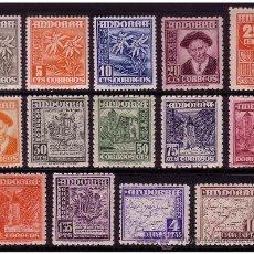 Sellos: ANDORRA ESPAÑOLA 1948 TIPOS DIVERSOS EDIFIL Nº 45 A 58 * *. Lote 23153998