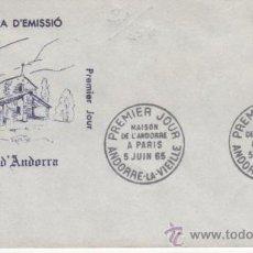 Sellos: 1965.-SEDE DE ANDORRA EN PARIS. Lote 23790233