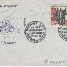 Sellos: 1964.-HISTORIA DE ANDORRA EMISION FRANCESA. Lote 23790257