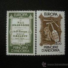 Sellos: ANDORRA FRANCESA 1985 IVERT 339/40 *** EUROPA - AÑO EUROPEO DE LA MÚSICA. Lote 24100530