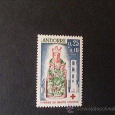 Sellos: ANDORRA,1964,CORREO FRANCES,EDIFIL 192,CRUZ ROJA,NUEVO CON GOMA Y SIN FIJASELLOS. Lote 25999204