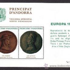 Sellos: ** ANDORRA VEGUERIA EPISCOPAL EUROPA MEDALLA TOVIA Y ALAS 1980. Lote 26540762