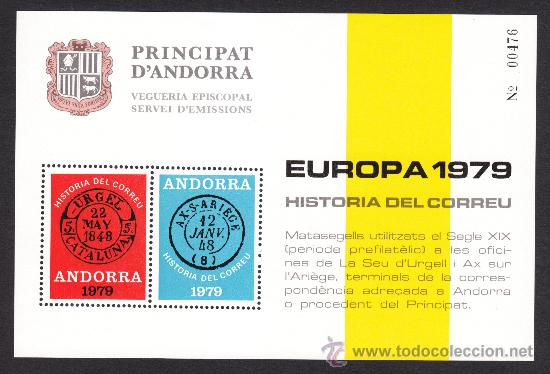 ** ANDORRA VEGUERIA EPISCOPAL EUROPA HISTORIA DEL CORREO 1979 (Sellos - Extranjero - Europa - Andorra)