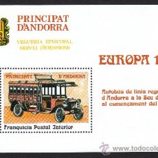 Sellos: ** ANDORRA VEGUERIA EPISCOPAL EUROPA AUTOBUS ANTIGUO 1988. Lote 26541589
