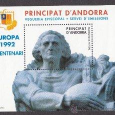Sellos: ** ANDORRA VEGUERIA EPISCOPAL EUROPA V CENTENARIO 1992 1993. Lote 26541736