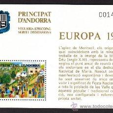 Sellos: ** ANDORRA VEGUERIA EPISCOPAL EUROPA L´APLEC DE MERITXELL PINTURA 1981. Lote 26541941