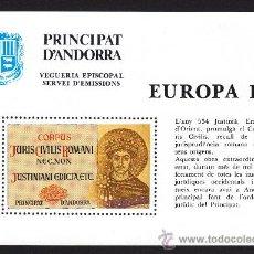 Sellos: ** ANDORRA VEGUERIA EPISCOPAL EUROPA CODIGO CODICE DE JUSTINIANO 1983. Lote 26542076