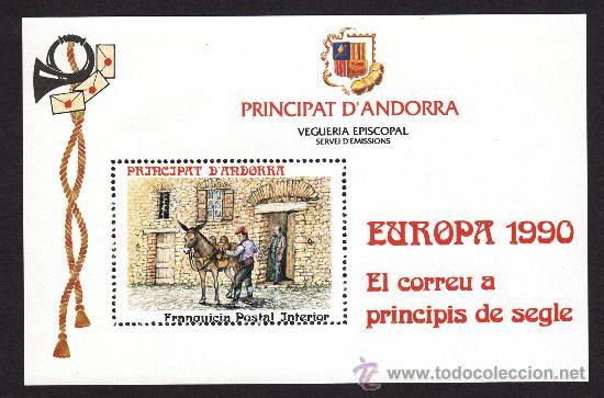 ** ANDORRA VEGUERIA EPISCOPAL EL CORREO A PRINCIPIOS DE SIGLO 1990 (Sellos - Extranjero - Europa - Andorra)