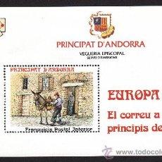 Sellos: ** ANDORRA VEGUERIA EPISCOPAL EL CORREO A PRINCIPIOS DE SIGLO 1990. Lote 26542292