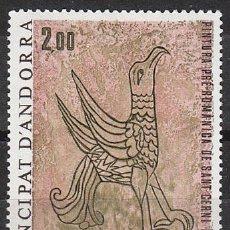 Sellos: ANDORRA FRANCESA EDIFIL 299, PINTURA MURAL (ÁGUILA) DE LA IGLESIA DE SAN CERNI DE NAGOL, NUEVO. Lote 27788615