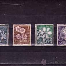 Sellos: ANDORRA-68/71-FLORES DEL PRINCIPADO. Lote 30243756