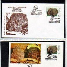 Sellos: LOTE PRIMER DIA PRINCIPAT D'ANDORRA NATURA TOFONA NEGRA - ANDORRA ESPAÑOLA 1996. Lote 31191498