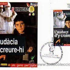 Sellos: LOTE POSTAL PRIMER DIA TELETHON 95 Y SOBRE ANY INTERNACIONAL DE L'INFANT - ANDORRA FRANCESA 1995. Lote 31191642