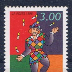 Sellos: ANDORRA FRANCESA ARLEQUIN MALABARISTA 1998 EDIFIL 518 NUEVO**. Lote 31936605