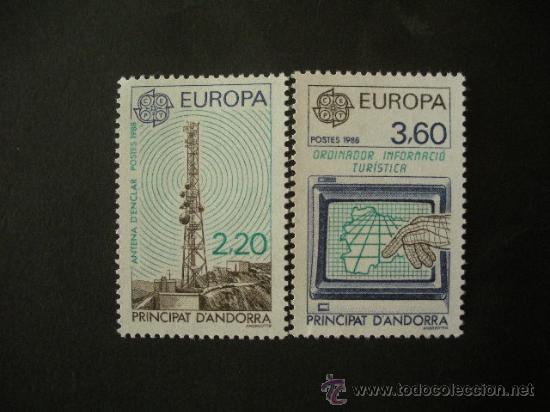 ANDORRA FRANCESA 1988 IVERT 369/70 *** EUROPA - TRANSPORTES Y COMUNICACIONES (Sellos - Extranjero - Europa - Andorra)
