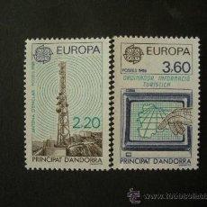 Sellos: ANDORRA FRANCESA 1988 IVERT 369/70 *** EUROPA - TRANSPORTES Y COMUNICACIONES. Lote 31881753