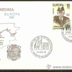 Sellos: ANDORRA SOBRE PRIMER DIA EDIFIL NUM. 133/4. Lote 105089508