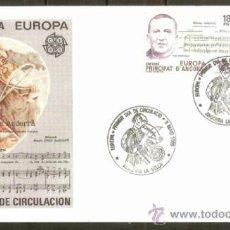 Sellos: ANDORRA SOBRE PRIMER DIA EDIFIL NUM. 184/5. Lote 37023757