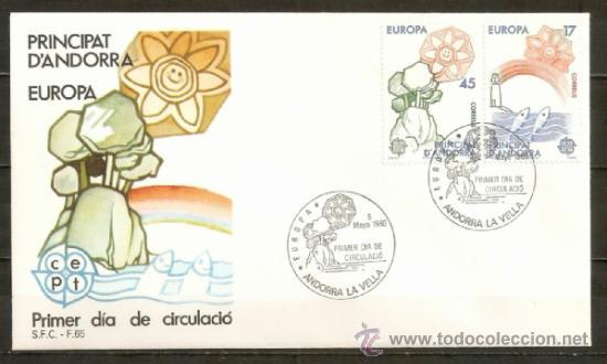 ANDORRA SOBRE PRIMER DIA EDIFIL NUM. 191/2 (Sellos - Extranjero - Europa - Andorra)