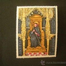 Sellos: ANDORRA FRANCESA 1977 IVERT 264 *** RETABLO DE LA CAPILLA DE SAN ROMA - RELIGIÓN . Lote 37256726
