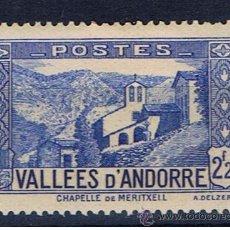 Timbres: CAPELLA MERITXELL 1937 EDIFIL 86 NUEVO* VALOR 2013 CATALOGO 10.-- EUROS . Lote 37506186