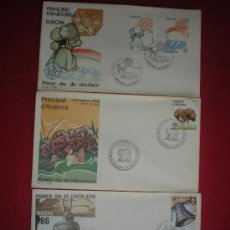 Sellos: LOTE DE 3 SPD DE ANDORRA. 1985 Y 1986.. Lote 39247222