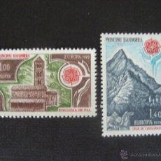 Sellos: ANDORRA FRANCESA, Nº YVERT 269/0*** AÑO 1978. EUROPA.IGLESIA DE PAL Y CASA DE CARLOMAGNO. Lote 41084298