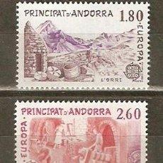 Sellos: ANDORRA FRANCESA YVERT NUM. 313/4 ** SERIE COMPLETA SIN FIJASELLOS. Lote 42710125