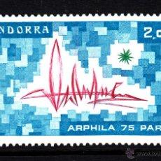 Sellos: ANDORRA 248** - AÑO 1975 - EXPOSICIÓN FILATÉLICA INTERNACIONAL ARPHILA 75 PARIS. Lote 43398327