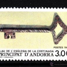 Sellos: ANDORRA 365** - AÑO 1987 - ANTIGÜEDADES - LLAVE DE LA IGLESIA DE LA CORTINADA. Lote 43660771