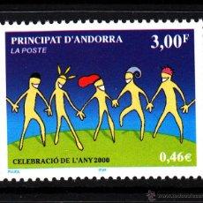 Sellos: ANDORRA 525** - AÑO 2000 - CELEBRACIONES DEL AÑO 2000. Lote 43660797