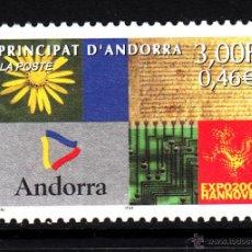 Sellos: ANDORRA 536** - AÑO 2000 - EXPOSICION UNIVERSAL DE HANNOVER EXPO 2000. Lote 43687686