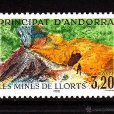 Sellos: ANDORRA 386** - AÑO 1990 - MINAS DE HIERRO DE LLORTS. Lote 43725341