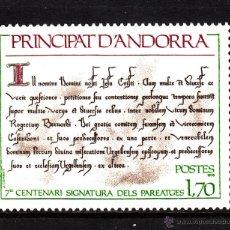 Sellos: ANDORRA 273** - AÑO 1978 - 7º CENTENARIO DE LA FIRMA DEL PAREAGE. Lote 43837281