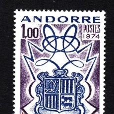 Sellos: ANDORRA 239** - AÑO 1974 - ANIVERSARIO DEL ENCUENTRO DE LOS CO-PRINCIPES DE ANDORRA. Lote 43940747