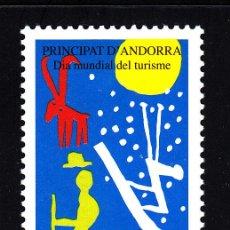 Sellos: ANDORRA 535** - AÑO 2000 - DIA MUNDIAL DEL TURISMO. Lote 44079526