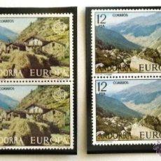 Sellos: SELLOS DE ANDORRA. SERIE EUROPA 1977. BLOQUE DE 4. NUEVOS.. Lote 44272308